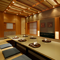 Japanese style kotatsu built into the floor for 12 or less